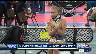 """Noblesville shooting victim Ella Whistler says she's ready to """"make things normal again"""""""