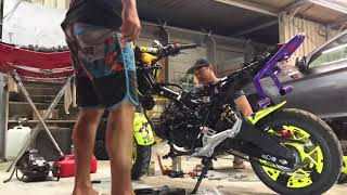 Honda Grom Zongshen ZS 190 conversion disassemble part 2