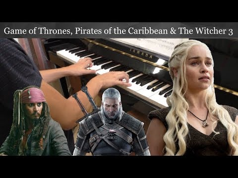 Piano Medley in D Minor (Game of Thrones, Pirates of the Caribbean & The Witcher 3) + FREE SHEETS