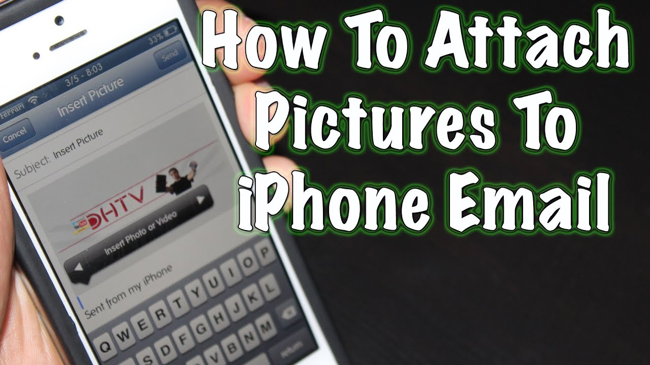 how to attach pictures to email
