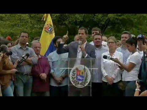 Guaidó pide ayuda al ejército de Estados Unidos