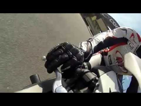 Joe Roberts throttle hand at Laguna