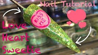 💜 Love Heart Sweetie Nail 💜   Nail Art Tutorial   Nail Sugar
