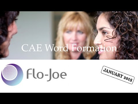 CAE Word Formation