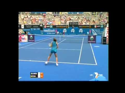 Petra Kvitova v Alexandra Dulgheru WTA Sydney APIA International 2012 Highlights