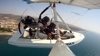 Amphibious Microlight Airplane Takeoff, Flight and Landing-A Flying Boat!