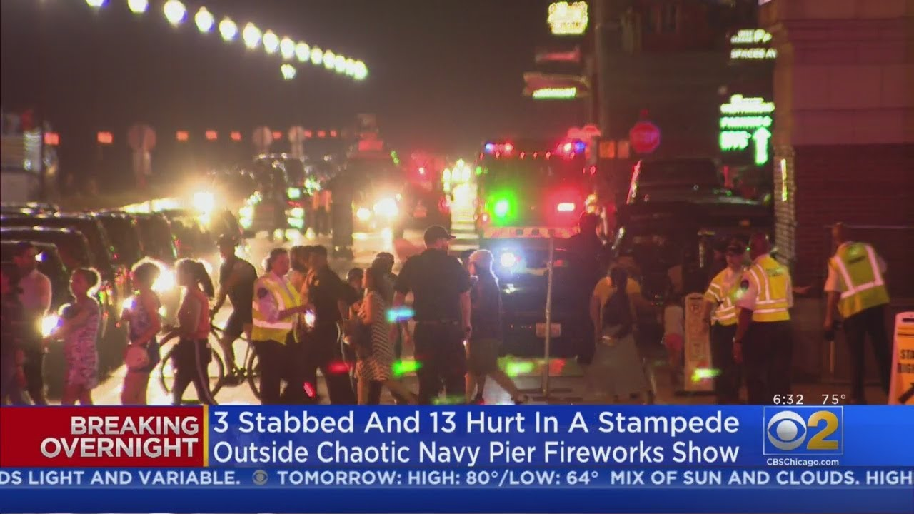What We Know About Navy Pier Stampede, Nearby Stabbings So Far