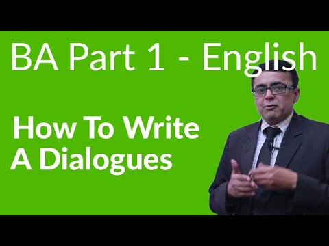 How to Write a Dialogue - BA English Part 1 Paper B Punjab University