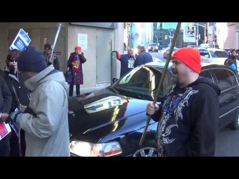 OPSEU Thugs Attack Motorists In Toronto