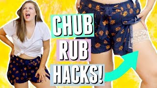 Curvy Girl Hacks! How To Stop CHUB RUB in Summer!