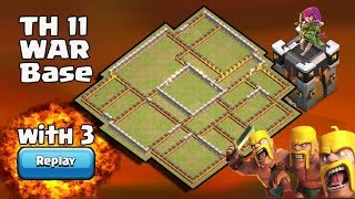 New Th11 War Base 2017 Anti 0 Star/Anti 2 Star With Replay Anti Valkyrie 6 anti queen walk Valk