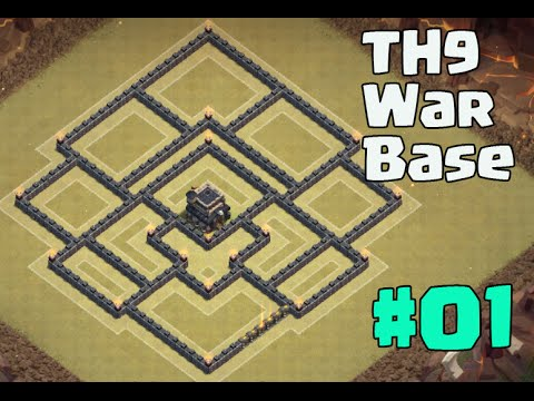 Town hall 9 war base best defense th9 new update with 2 air