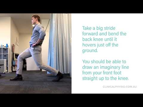 Forward Lunges for gluteal and quadricep strength