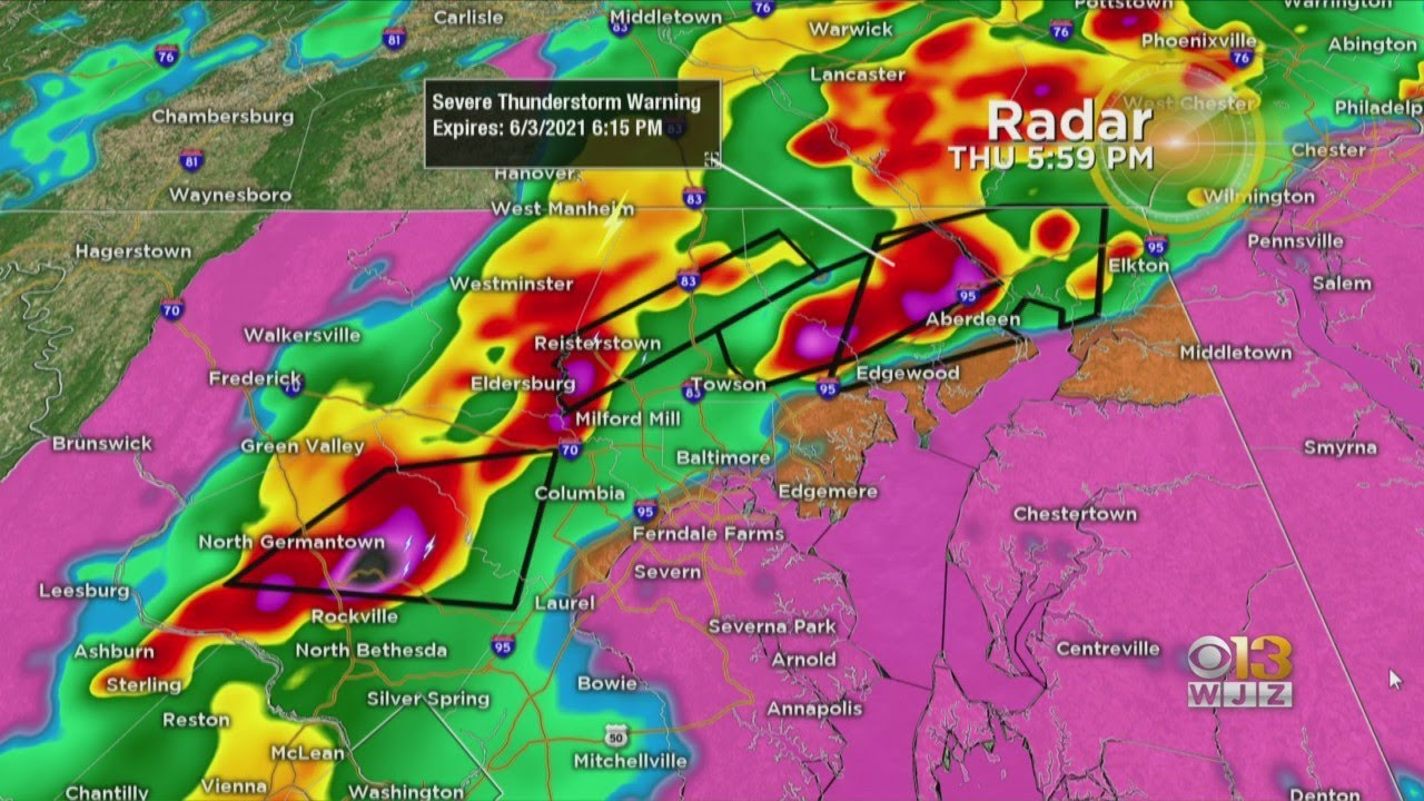 Maryland Weather: Severe Thunderstorm Warnings & Watches ...