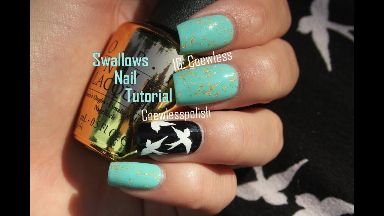 Swallow nail tutorial - YouTube