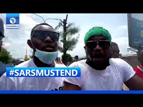 #SARSMUSTEND: More Celebrities Join Protesters In Lagos