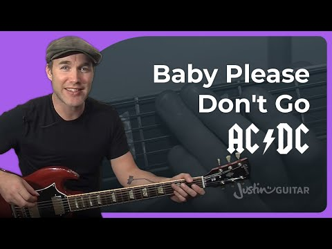 Riff #16: Baby Please Don't Go - AC/DC, Them (Songs Guitar Lesson RF-016) How to play music