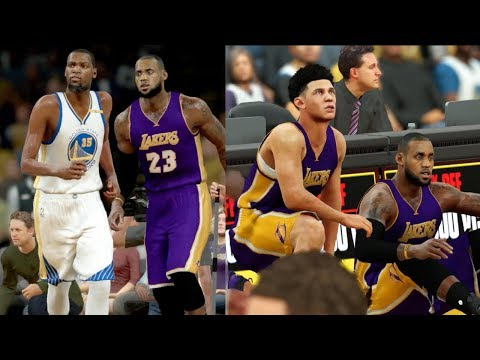 Download Youtube: What If LeBron James Went To The Lakers To Join Lonzo Ball? NBA 2K17 Challenge