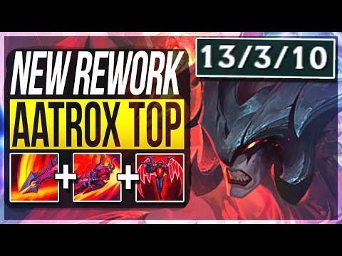 AATROX REWORK IS ACTUALLY SO STUPID FIRST PENTAKILL Aatrox Top Gameplay  League of Legends