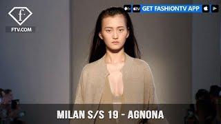Milan Fashion Week Spring/Summer 2019 - Agnona   FashionTV   FTV