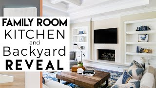 Family Room, Kitchen, Outdoor Space REVEAL | Interior Design