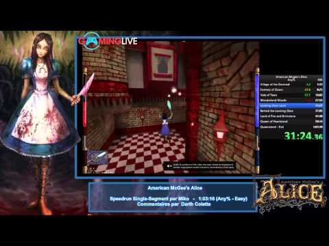 American McGee's Alice (Single Segment) - Mardi 17 Mars 2015 - Gaming Live TV2 - La run WR commentée