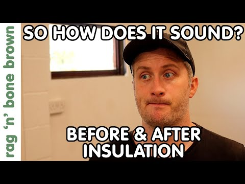 Before & After Insulating My Garage - Sound Proofing Results. Plus Insulating The Internal Walls