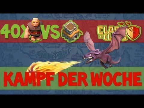 #7 Kampf der Woche 40x Riesen VS. Rathaus 8 I Clash of Clans
