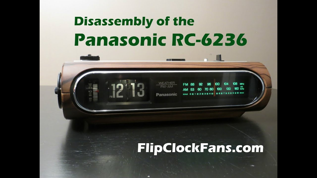 Panasonic Rc 6236 Weather Fm Am Radio Flip Clock Fans