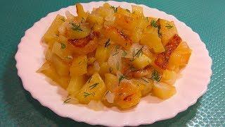 Как ВКУСНО пожарить картошку! Жареный картофель с луком - простой рецепт приготовления