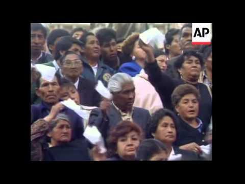 BOLIVIA: FUNERAL OF FORMER PRESIDENT HERNAN SILES ZUAZO