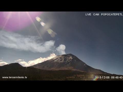 Monitoreo Volcán Popocatepetl EN VIVO - YouTube