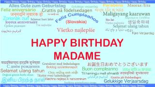 Madame   Languages Idiomas - Happy Birthday