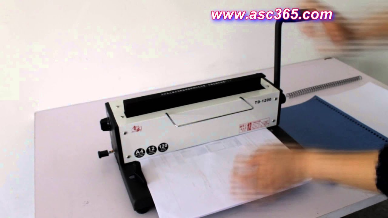 New All Steel Metal Spiral Coil 34Holes Punching Binding Machine ...
