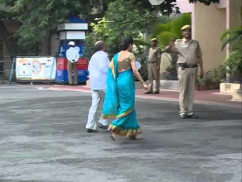 Dynamic Woman IAS Officer Smitha Sabarwal Walking At Samatha Block