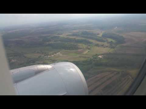 A-319 Eurowings (Germanwings) landing in Rome Fiumicino