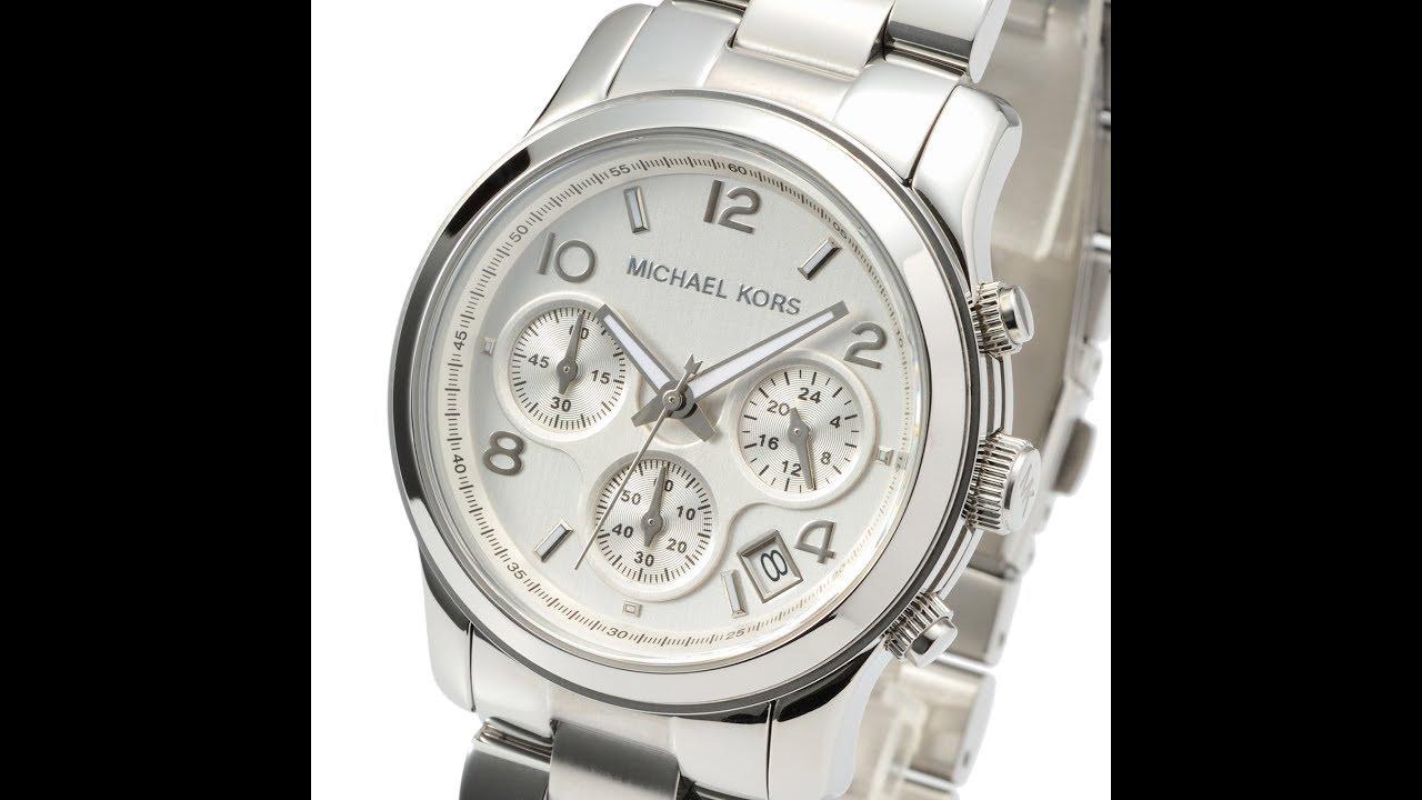 29d7c9f21949 MICHAEL KORS WATCH MK5076 RUNWAY SILVER REVIEW WOMENS MK5076 マイケル・コース 腕時計  シルバー レビュー レディース