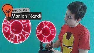 Como fazer um Propeller Clock/Relógio Holográfico/Persistence of Vision Display
