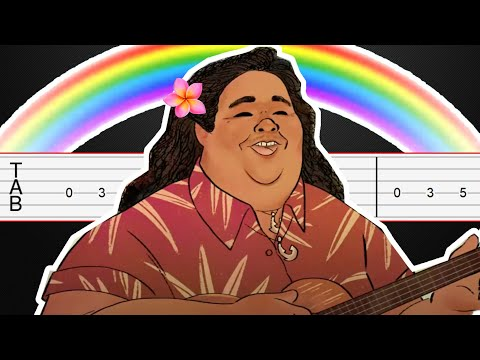 Somewhere Over The Rainbow - Israel Kamakawiwoʻole Guitar Tabs, Guitar Tutorial, Guitar Lesson