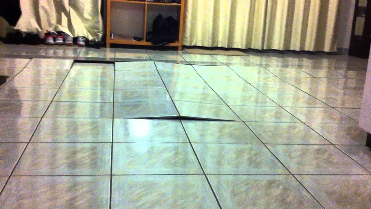 my porcelain floor tiles cracking