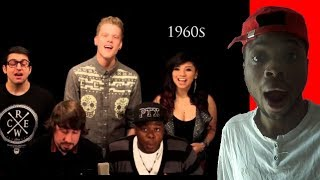 Hip Hop fan first time reacting to the Evolution of Music by Pentatonix