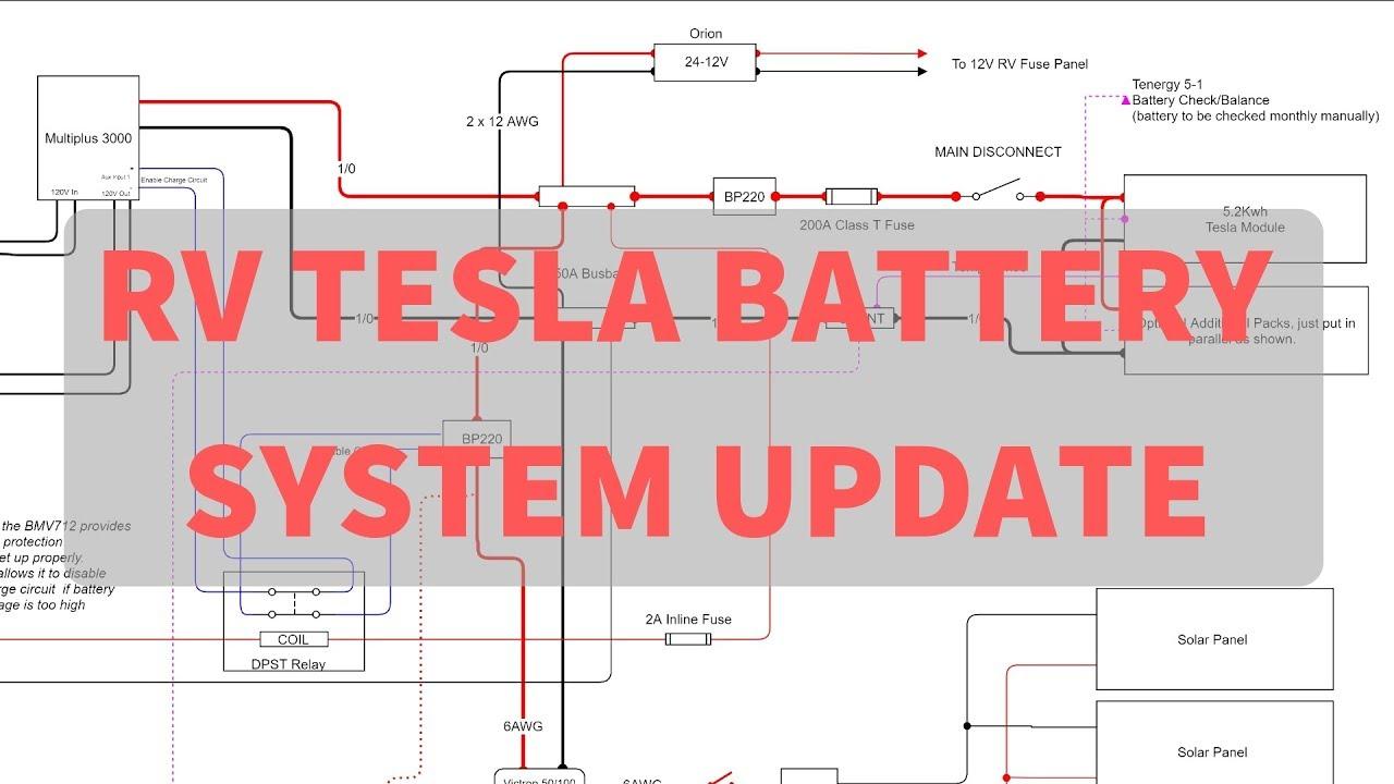 medium resolution of rv tesla battery install system simplification and improvements schematic walk through