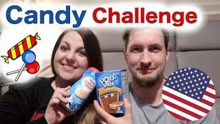 USA Candy Challenge 🇺🇸 | original amerikanische Süßigkeiten & Getränke | das erste mal mit Dennis
