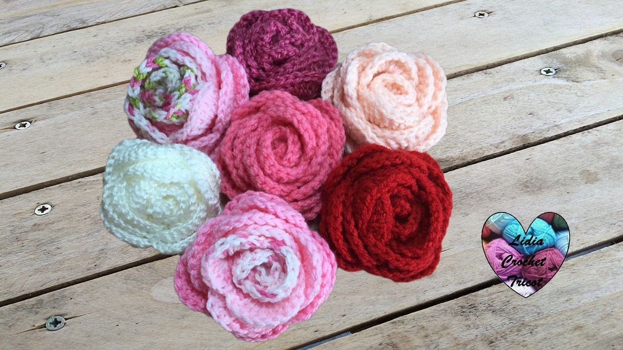 Roses Flowers Tutorial Crochet Very Easy English Subtitles