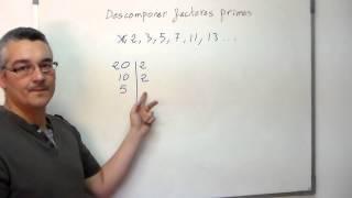 Descomponer en factores primos. Aprende Matemáticas.