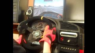 LIVE FOR SPEED ONBOARD DRIFT BMW E36 LOGITECH G27