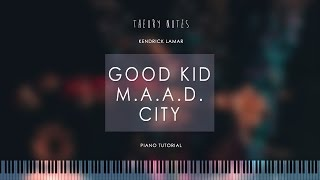 Скачать How To Play Kendrick Lamar Good Kid M A A D City Medley Theory Notes Piano Tutorial
