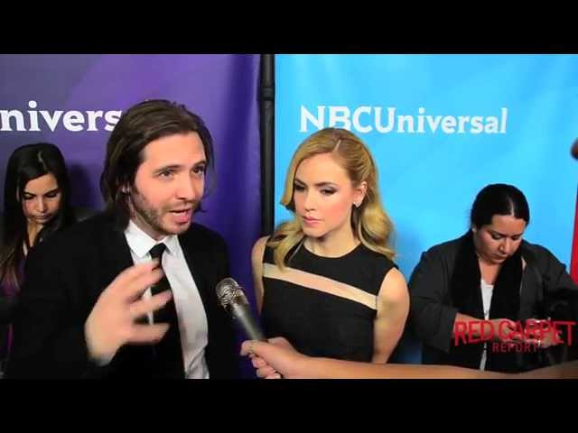 Aaron Stanford & Amanda Schull #12Monkeys at the NBC/Universal Winter TCA Press Tour #TCA2015