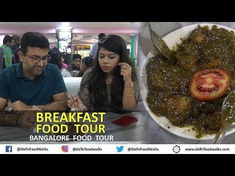 Bangalore BREAKFAST Food Tour   GREEN Idli, BHAAT (RICE) Dosa    Bangalore Food Tour