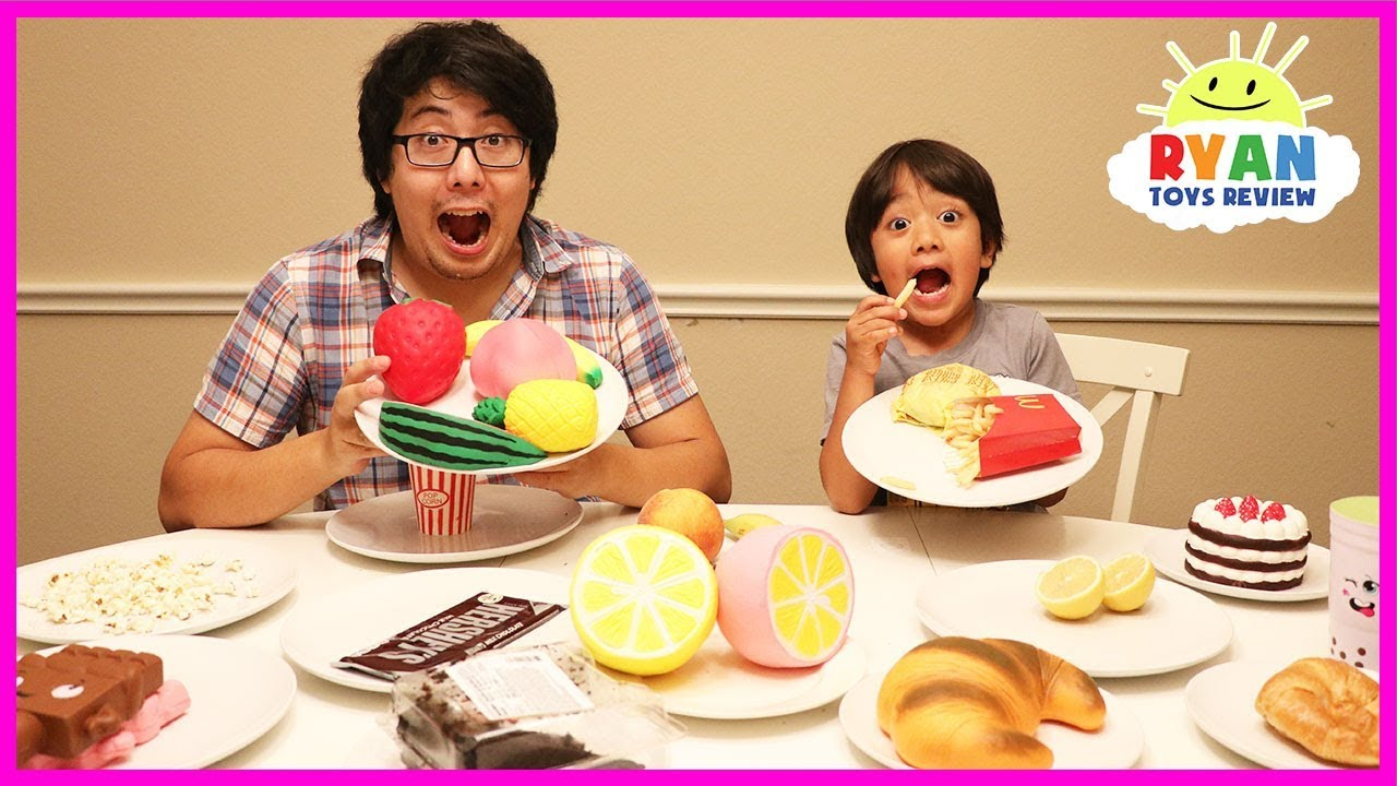Squishy Toys Vs Real Food : Squishy food vs Real food challenge! Parent vs Kid Toys Collection! - YouTube